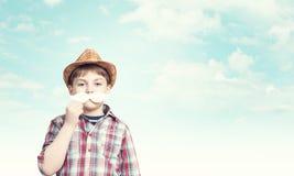 Niño con el bigote Fotos de archivo libres de regalías