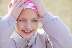 Niño con el cáncer Imágenes de archivo libres de regalías
