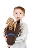 Niño con el caballo imágenes de archivo libres de regalías