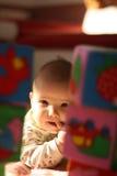 Niño con el dedo en boca Imagen de archivo libre de regalías