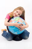 Niño con el globo Fotografía de archivo libre de regalías