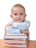 Niño con el libro Foto de archivo