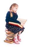 Niño con el libro Imagenes de archivo