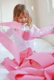 Niño con el papel higiénico Fotografía de archivo libre de regalías