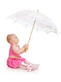 Niño con el paraguas Fotografía de archivo libre de regalías