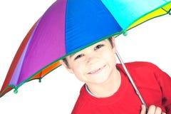 Niño con el paraguas Fotografía de archivo