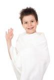 Niño con el pelo mojado Fotos de archivo libres de regalías