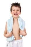 Niño con el pelo mojado Fotografía de archivo libre de regalías