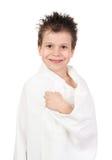 Niño con el pelo mojado Fotografía de archivo