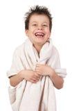 Niño con el pelo mojado Foto de archivo libre de regalías
