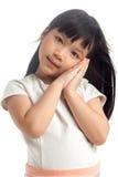 Niño con el sueño de actitud fotos de archivo libres de regalías