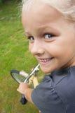 Niño con la bicicleta Fotos de archivo libres de regalías