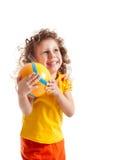 Niño con la bola Imagenes de archivo