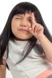 Niño con la cara divertida fotografía de archivo