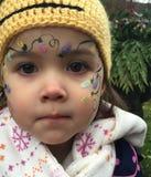 Niño con la cara pintada Imágenes de archivo libres de regalías