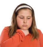 Niño con la garganta dolorida Imagen de archivo