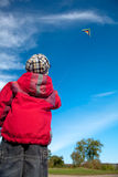 Niño con las cometas Fotos de archivo