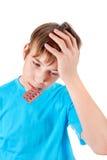 Niño con las píldoras Fotografía de archivo libre de regalías