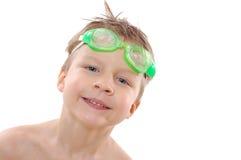 Niño con los anteojos fotos de archivo libres de regalías