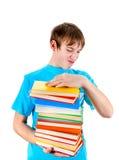 Niño con los libros Imágenes de archivo libres de regalías