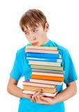 Niño con los libros Fotografía de archivo