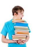 Niño con los libros Fotos de archivo