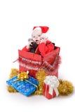 Niño con los regalos en el rectángulo #1 Imagen de archivo libre de regalías
