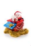 Niño con los regalos en el rectángulo #3 Fotos de archivo libres de regalías
