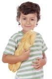 Niño con pan foto de archivo libre de regalías