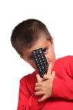 Niño con teledirigido Fotografía de archivo libre de regalías