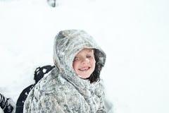 Niño congelado Imagen de archivo libre de regalías