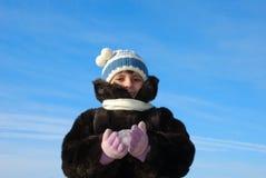 Niño congelado imágenes de archivo libres de regalías