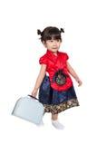 Niño coreano asiático lindo en traje Fotos de archivo