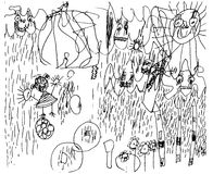 Niño de 3 años del estilo abstracto del ejemplo Fotos de archivo libres de regalías