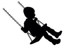 Niño de balanceo Fotografía de archivo libre de regalías