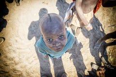 Niño de Himba Imagenes de archivo