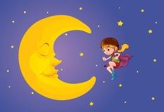 Niño de la luna Fotos de archivo
