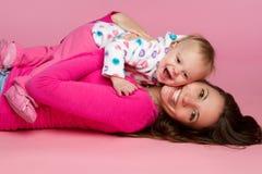 Niño de la madre Fotografía de archivo