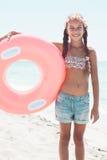 Niño de la moda en la playa Imagenes de archivo