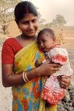 Niño de la muchacha en la India Imagenes de archivo