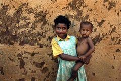 Niño de la muchacha en la India Fotografía de archivo libre de regalías