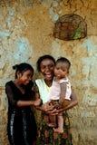 Niño de la muchacha en la India Imagen de archivo
