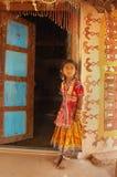 Niño de la muchacha en la India Imagen de archivo libre de regalías