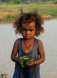Niño de la muchacha en la India Fotos de archivo libres de regalías