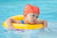 Niño de la natación Fotografía de archivo