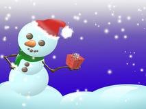 Niño de la nieve ilustración del vector