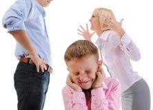 Niño de la parte de los padres. Imagen de archivo