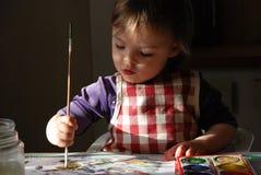 Niño de la pintura Foto de archivo libre de regalías