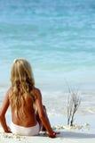 Niño de la playa Fotografía de archivo