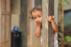 Niño de la pobreza Foto de archivo libre de regalías